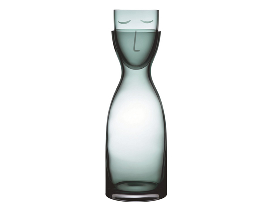 Mr & Mrs Bedside Carafe Green